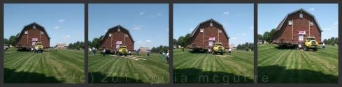 Maplenol Barn moving across field